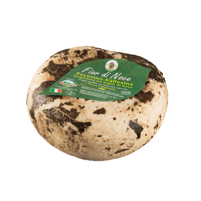 Aged Pecorino cheese in Walnut leaves